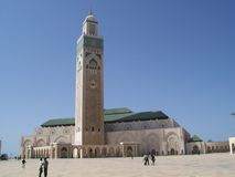 Mosque of hassan ii Stock Photography