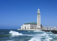 Mosque Hassan II in Casablanca. The Hassan II Mosque in Casablanca is the largest mosque in Morocco Royalty Free Stock Images