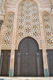 Mosque Hassan II decorated doors. royalty free stock photography