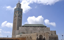 Mosque HassanII from Casablanca in Morocco Royalty Free Stock Image