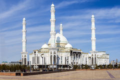 Mosque Hazrat Sultan in Astana city. Royalty Free Stock Photos