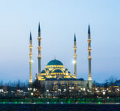 Mosque Heart of Chechnya Royalty Free Stock Image