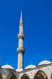 Mosque high minaret in Turkey Royalty Free Stock Photo