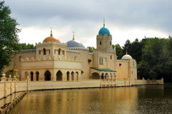 Mosque in Holland. On the lake shore Royalty Free Stock Photography