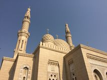 Mosque in Dubai. Mosque in Dubai, United Arab Emirates Royalty Free Stock Photography