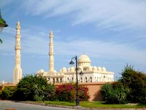 Mosque in hurghada. In egypt on afternoon Stock Image