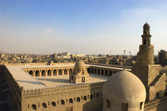 The Mosque of Ibn Tulun. The Mosque of Ahmad Ibn ?ulun is located in Cairo, Egypt. It is arguably the oldest mosque in the city surviving in its original form Stock Photography