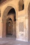 Mosque of Ibn Tulun. CAIRO, EGYPT - MARCH 02: Ibn Tulun Mosque in Cairo on MARCH 02, 2010. Many Corridors in Ibn Tulun Mosque Courtyard in Cairo, Egypt Royalty Free Stock Photo