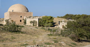 Mosque Ibrahim khan. Fortezz's fortress. Island of Cret. Mosque Ibrahim khan. Fortezz's fortress.Rethymno. Island of Crete. Greece Stock Photography