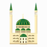 Mosque icon, cartoon style. Mosque icon in cartoon style isolated on white background Stock Images