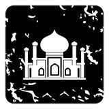 Mosque icon, grunge style Royalty Free Stock Images