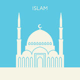 Mosque icon. Islam building Royalty Free Stock Photography