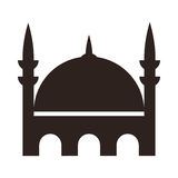 Mosque icon. On white background Royalty Free Stock Photography
