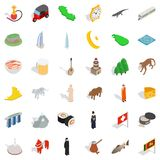 Mosque icons set, isometric style. Mosque icons set. Isometric style of 36 mosque vector icons for web isolated on white background vector illustration