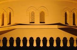 Mosque illuminated at night Royalty Free Stock Photo