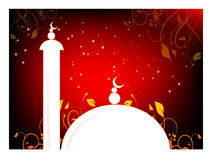 Mosque illustration. Illustrator graphic of mosque in night Stock Photos