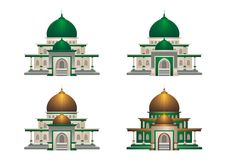 Mosque illustration with cartoon style Stock Photography