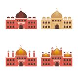 Mosque illustration with Flat style Stock Photo