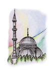 Mosque illustration Royalty Free Stock Photo