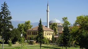 Free Mosque In A Park In Skopje Stock Image - 160373221
