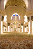 Mosque from inside. Showing the columns and interior design and decorations of the walls Royalty Free Stock Photos
