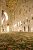 Mosque from inside. Showing the columns and interior design and decorations of the walls Royalty Free Stock Photo