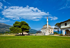 Mosque in Ioannina, Greece. The view of Ioannina in Greece, Ali Pasha island Royalty Free Stock Images