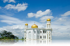 Mosque of Islam. Ayutthaya Province, Thailand. Mirror image of the Mosque of Islam stock photo
