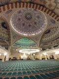 Mosque. Islamic mosque interior architecture Royalty Free Stock Image