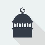mosque islamic muslim relief art flat design, seo web design building Stock Photo