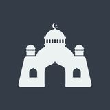 mosque islamic muslim relief art flat design, seo web design building Royalty Free Stock Photos