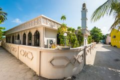 The mosque on the island of Huraa in the Maldives Royalty Free Stock Photo