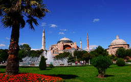 Mosque in Istanbul. The holy mosque (now a museum) known as Hagia Sophia in Istanbul, Turkey Stock Photo