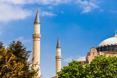Mosque in Istanbul. Mosque  Aya Sofya of Istanbul in Turkey Stock Photo