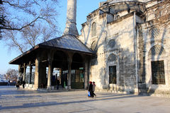 Mosque in Istanbul at the bright evening Royalty Free Stock Photography