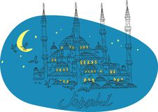 Mosque Istanbul illustration Stock Images