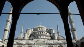Mosque in Istanbul. A medium tilting shot of a big mosque in Istanbul. Beautiful detailed architecture of a mosque in Istanbul stock video