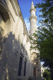 Mosque in Istanbul. Minaret of the Mosque, Istanbul, Turkey. 20 march 2014 Royalty Free Stock Image