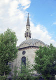 Mosque in Istanbul. Minaret of the Mosque, Istanbul, Turkey. 20 march 2014 Royalty Free Stock Photos