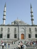 Mosque in Istanbul, Turkey. Exterior of a mosque in Istanbul, Turkey with people outside Stock Image