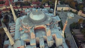 Mosque in Istanbul Turkey. Detailed view of a mosque in Istanbul Turkey during an autumn day stock video