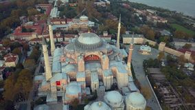 Mosque in Istanbul Turkey. Detailed view of a mosque in Istanbul Turkey during an autumn day stock footage
