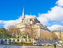 The mosque. ISTANBUL, TURKEY - JANUARY 13, 2015: The Gazi Atik Ali Pasha Mosque is the medieval mosque located next to the Grand Bazaar and Column of Constantine Royalty Free Stock Photo
