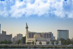 Mosque in jeddah waterfront. At the morning Stock Photo