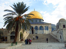 Mosque of Jerusalem. The wonderful mosque of Jerusalem stock images