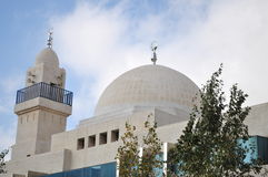Mosque in Jordan. Mosques architecture in Amman,Jordan Stock Image
