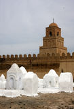 Mosque in Kairouan. With old graveyard Royalty Free Stock Image