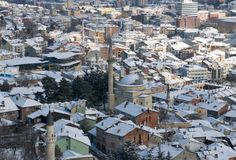 Mosque of Kastamonu in Winter Royalty Free Stock Images
