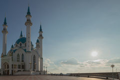 Mosque. In Kazan in the evening Royalty Free Stock Photos
