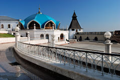 Mosque in Kazan kremlin. Mosque and other buildings in Kazan kremlin (Russia stock photos